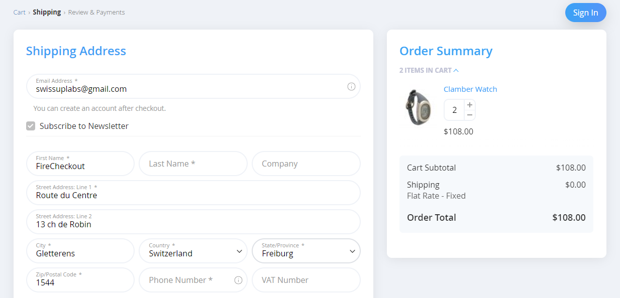 add shopping cart block on the checkout page