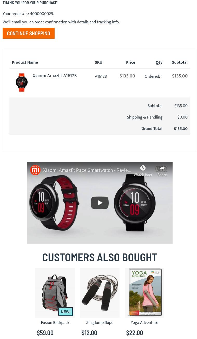 add custom Magento 2 order confirmation page