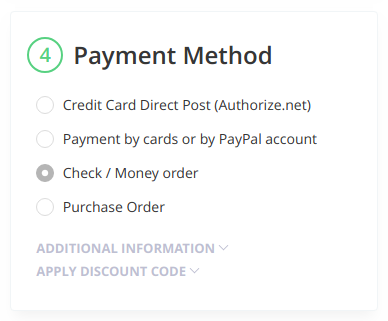 collapsible magento 2 checkout section