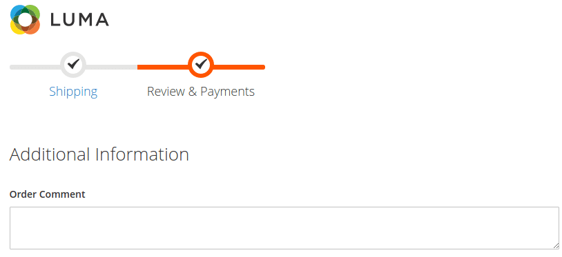 add order comment field to Magento 2 checkout page