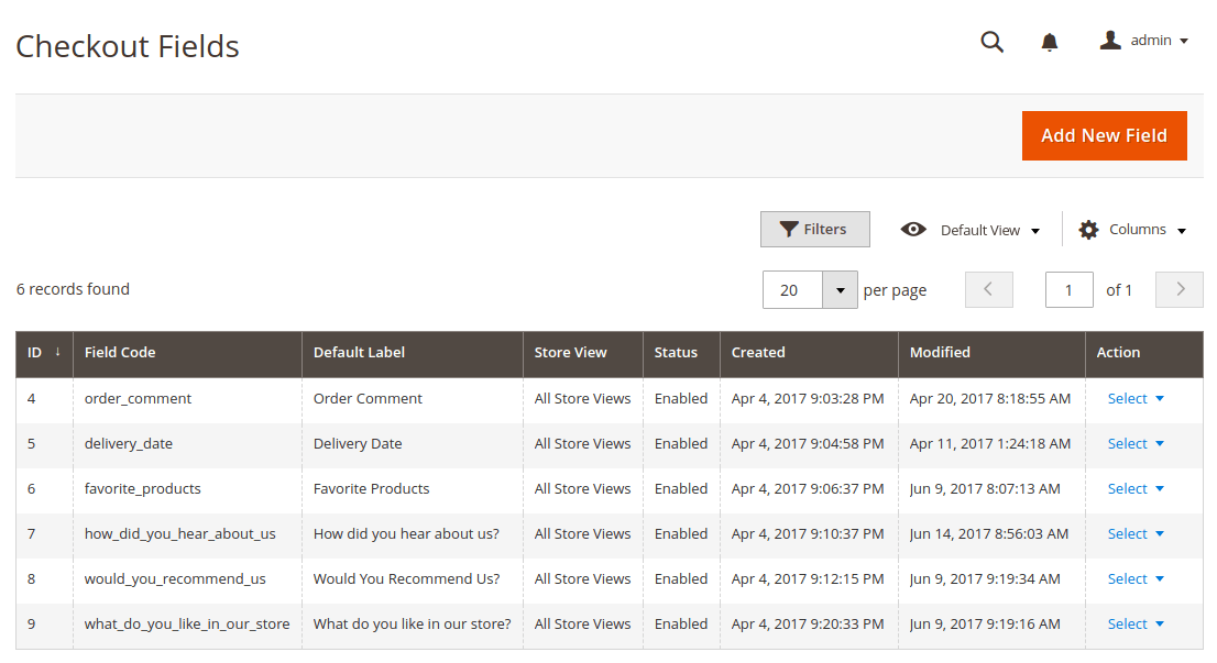 magento 2 checkout page fields
