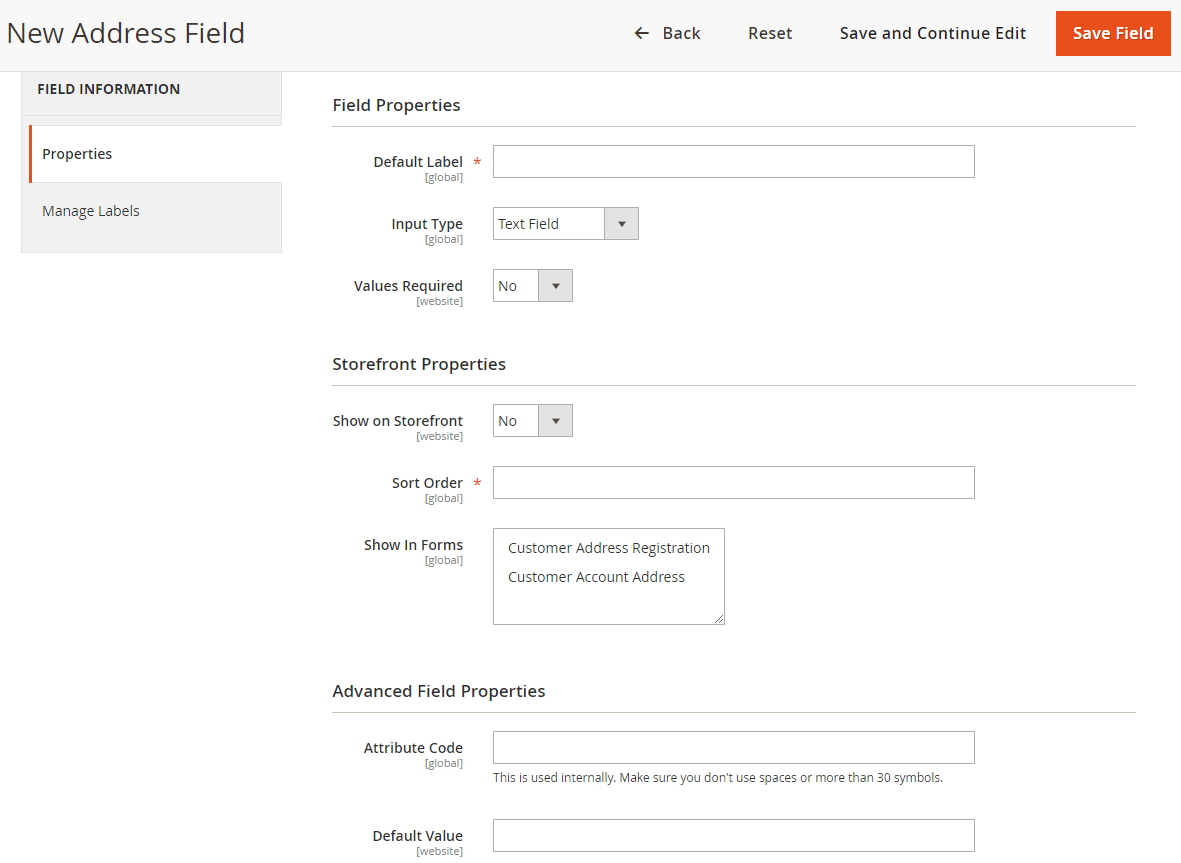 add custom address field on checkout page